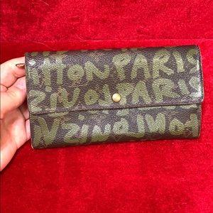 Authentic Louis Vuitton graffiti wallet